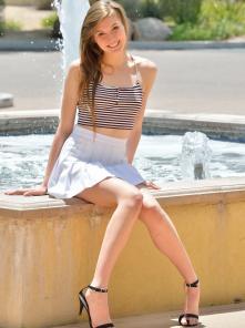 Her Miniskirt And Heels
