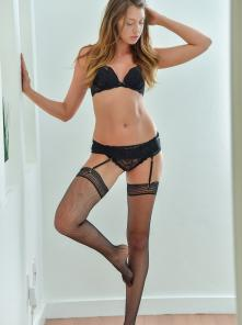 Elena Black Stockings And Lingerie Picture 5